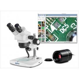 Sztereo mikroszkóp digitális kamerával és mérőszoftverrel
