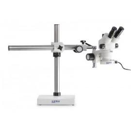 Zoom Sztereo mikroszkóp oszlopos állvánnyal - KERN OZM-91 széria