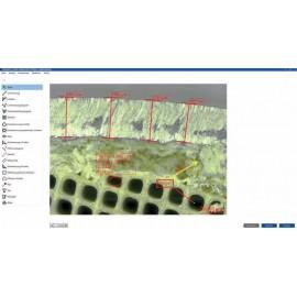 Mikroszkópos mérőszoftver - 2D mérésekhez