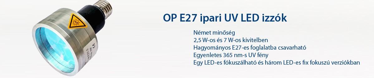 OP E27 ipari UV LED izzók